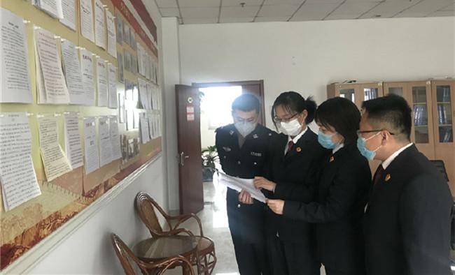 山东东阿:青年干警学习抗疫模范先进事迹