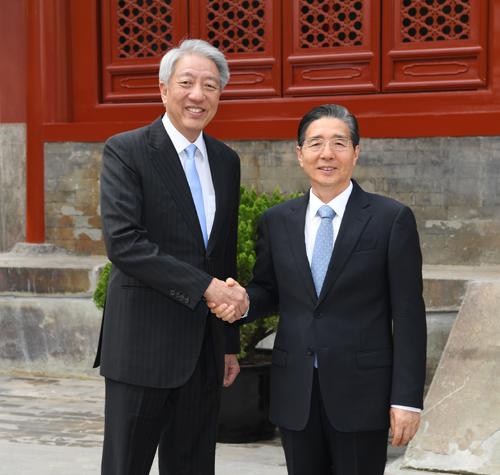 郭声琨会见新加坡副总理张志贤